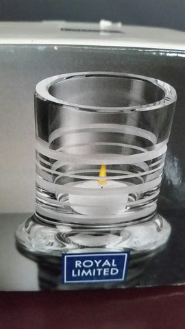 Royal limited crystal votive - O'Rourke crystal awards & gifts abp cut glass