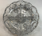 ABP cut glass 4 section dish antique crystal