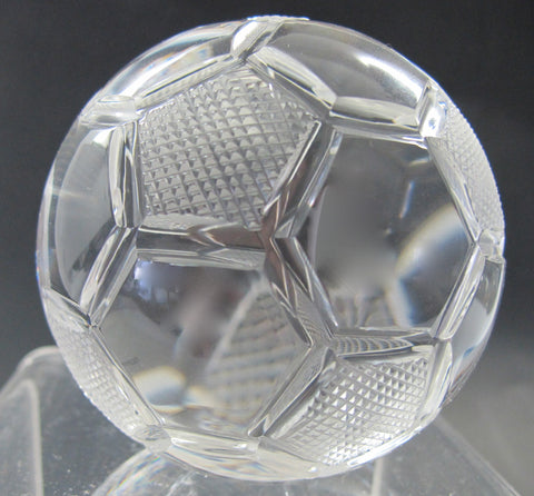 Crystal soccer ball - O'Rourke crystal awards & gifts abp cut glass