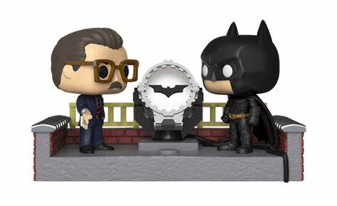 tilmans-toys - Funko POP! Movie Moments: Batman 80th With Light Up Batsignal - Funko - Funko POP!