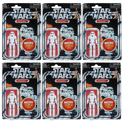Star Wars Retro Collection Stormtrooper Army Builder 6 Pack 3.75 Inch