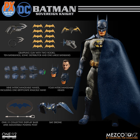 tilmans-toys - Mezco One:12 Batman Sovereign Knight PX Exclusive (Blue Version) - aaaanime - Action Figure