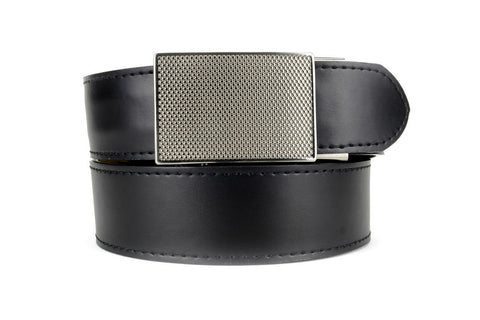 DEFENDER BLACK LEATHER CONCEALED TACTICAL BELT
