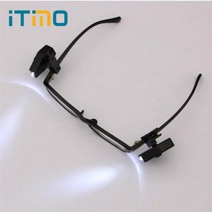 Adjustable LED Eyeglass Clip Light