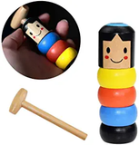 LITTLE WOODEN MAN WHO CAN'T BEAT INTERESTING MAGIC TOY (Not much stock, hurry up!!)