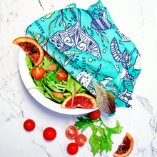 Load image into Gallery viewer, Buzzee Reusable Foodwraps - Aqua -4 pack