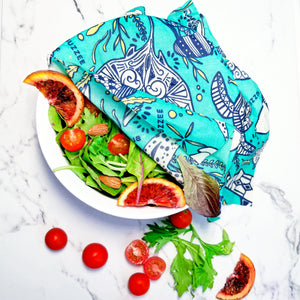 Buzzee Reusable Foodwraps - Aqua -4 pack