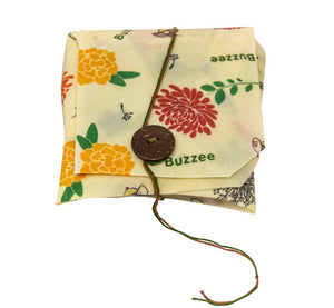 Buzzee Reusable Sandwich Wrap - Bees At Work