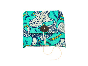 Buzzee Reusable Sandwich Wrap - AQUA