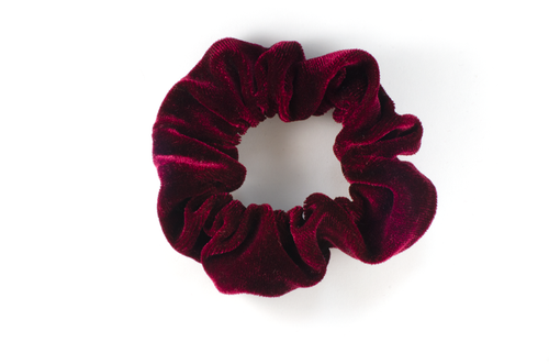 deep rose mini scrunchie