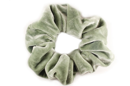 green tea velvet scrunchie