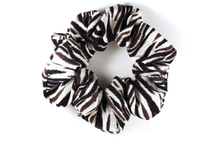 zebra patterned scrunchie