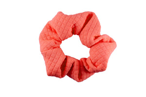 Coral mini scrunchie