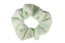 Load image into Gallery viewer, green mint scrunchie