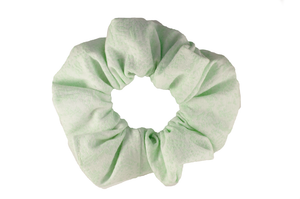 green mint scrunchie