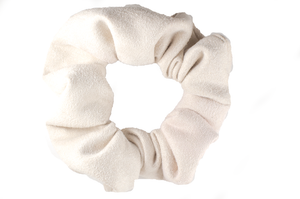 cream suede regular scrunchie