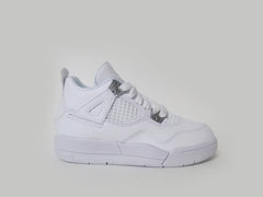 "Air Jordan 4 Retro (PS) Pre-School White/Metallic Silver ""Pure Money"" 308499-100"