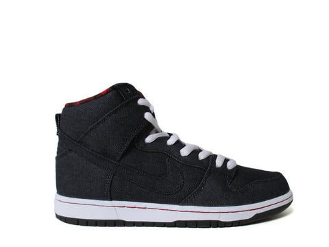 Nike SB Dunk High Lumberjack Denim Dark Obsidian White Red 313171-441