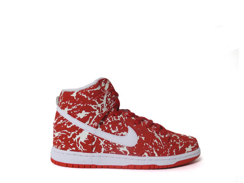 "Nike SB Dunk High Premium Challenge Red/White-Chllng Red ""RAW MEAT"" 313171-616"