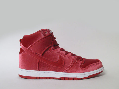 "Nike SB Dunk High Premium Gym Red/Gym Red-White ""Red Relvet"" 313171-661"