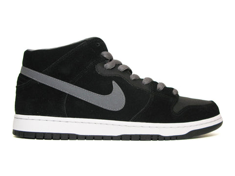 Nike SB Dunk Mid Pro Black/Lt Graphite-White 314383-014 ( With Strap )