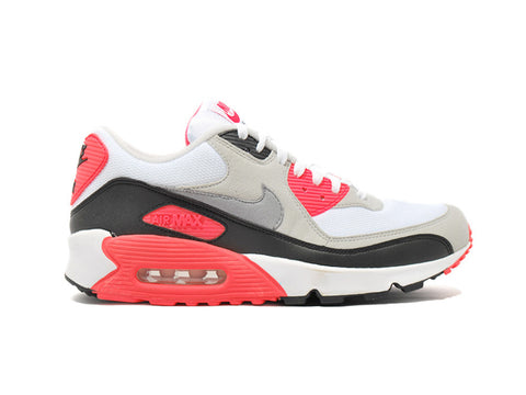 "Nike Air Max 90 White/Cement Grey-Infrrd-Black ""2008 Release"" 333806-101"