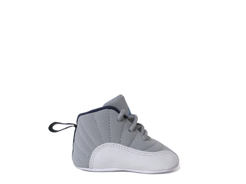 Air Jordan 12 Retro (CB) Crib Wlf Gry/Unvrsty Bl-White-Mid N 378139-007