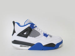 Air Jordan 4 Retro (GS) Grade School White/Game Royal-Black 408452-117