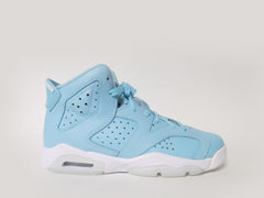 Air Jordan 6 Retro (GS) Grade School Still Blue/White-White 543390-407
