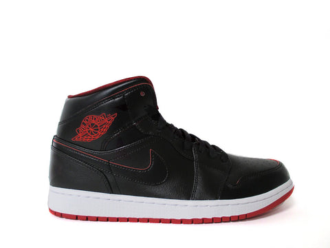 Air Jordan 1 Mid Black/Black-White-Gym Red 554724-028