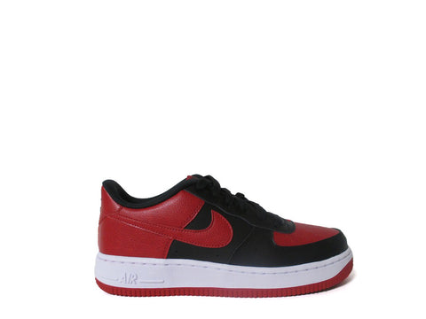 Nike Air Force 1 Low (GS) Grade School Black/Gym Red-White 596728-016