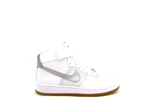 Womens Nike AF1 Utlra Force Mid White/Metallic Silver 654851-102