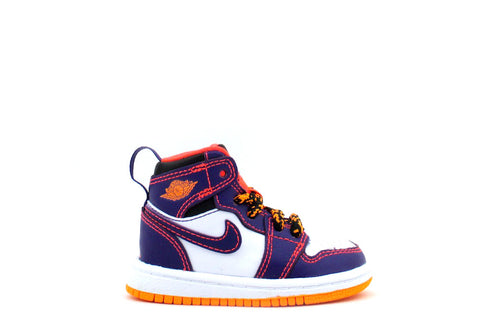 Air Jordan 1 Retro High BT (TD) Toddler Crt Prpl/Brght Crmsn-White-Brg 705304-507