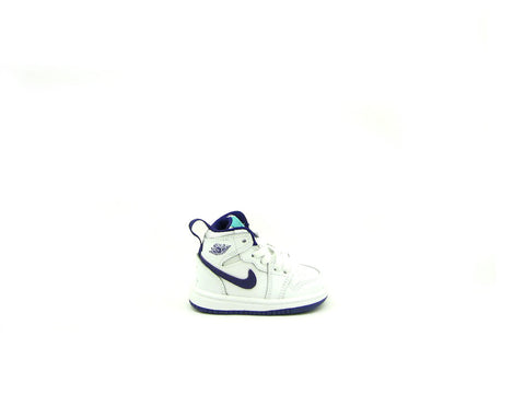 Air Jordan 1 Retro High GT (TD) Toddler White/Crt Purple-Lt Rtr-White 705324-137