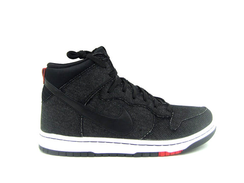 "Nike Dunk CMFT Black/Black-White-Unvrsty Red ""DENIM"" 705434-001"
