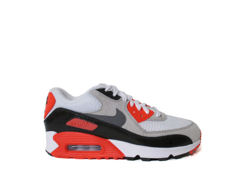 Nike Air Max 90 Infrared White Grey Black Cool GS Grade School 724882-100