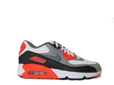 Nike Air Max 90 LTR (GS) Grade School White/Cool Grey-Mdm Gry-Infrrd 833412-102