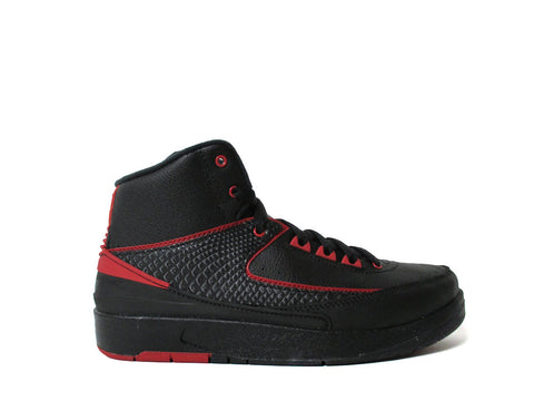 Air Jordan 2 Retro (GS) Grade School Black/Varsity Red 834276-001