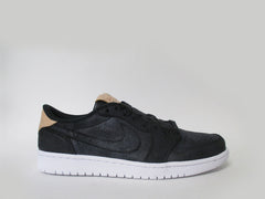 Air Jordan 1 Retro Low OG Prem Black/Vachetta Tan-White 905136-010