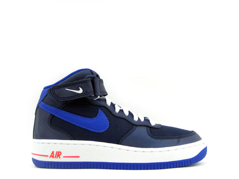 Nike Air Force 1 Mid (GS) Grade School Mid Nvy/Lyn Bl-White-Brght Crm 314195-412