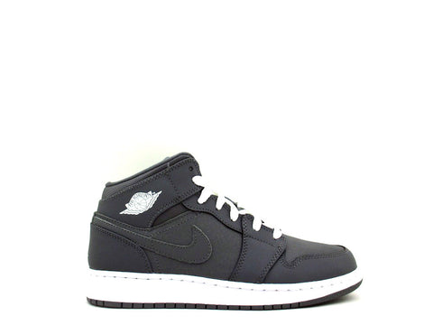Air Jordan 1 Mid BG (GS) Grade School Cool Grey/White-Cool Grey 554725-022