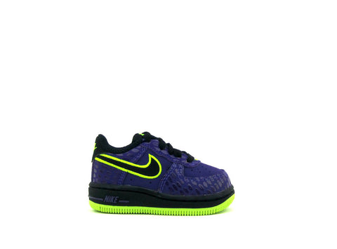 Nike Air Force 1 Low (TD) Toddler Court Purple/Black-Volt 596730-501