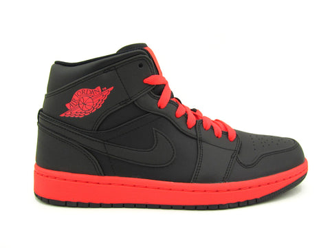 Air Jordan 1 Mid Black/Infrared 23 554724-043