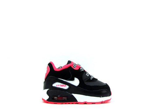 Nike Air Max 90 2007 (TD) Toddler Black/White-Hyper Punch 408112-064