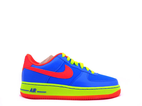 Nike Air Force 1 Low (GS) Grade School Photo Blue/Hyper Crimson-Volt 596728-424