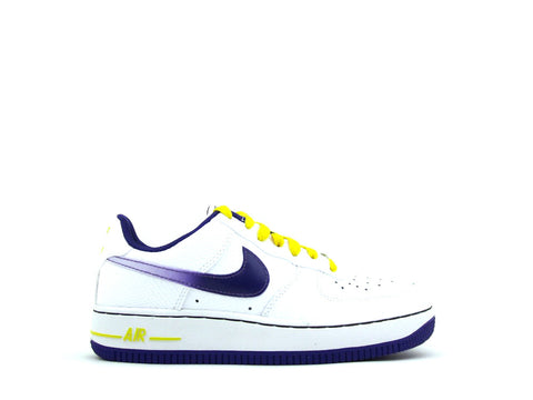 Nike Air Force 1 Low (GS) Grade School White/Court Purple-Tour Yellow 596728-176