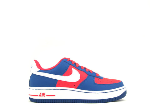 Nike Air Force 1 Low (GS) Grade School Lsr Crmsn/White-Mltry Bl-White 596728-606