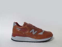 New Balance 998 Bespoke Horween Made in USA Brown Silver M998BESP