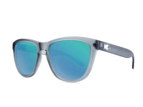 Knockaround Premiums Frosted Grey/Polarized Green Moonshine