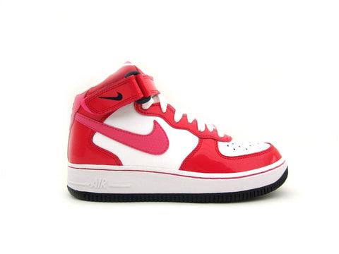 "Air Force 1 Mid GS (Grade-School) ""Valentines Day"" White/Dynmc Pnk-Hypr Rd-Drk Ob 518218-101"